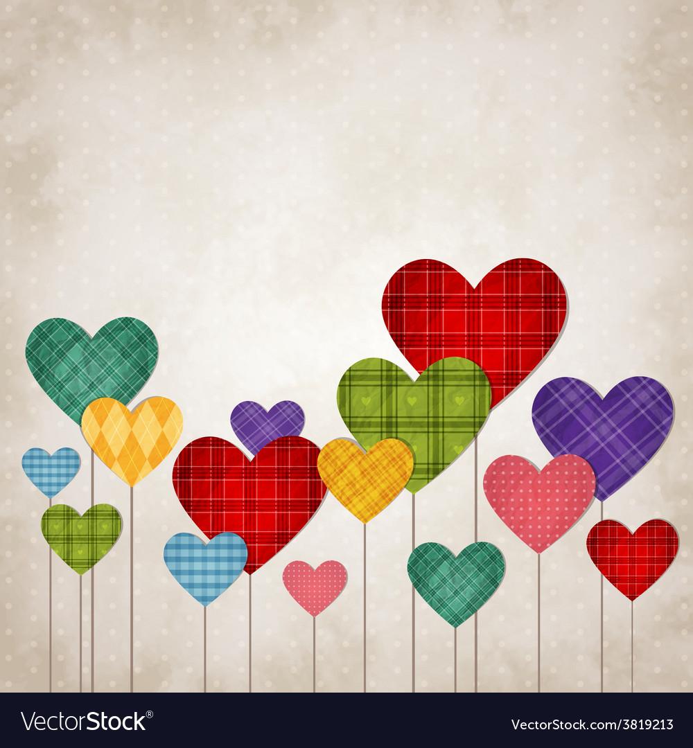 Hearts multicolored vector | Price: 1 Credit (USD $1)
