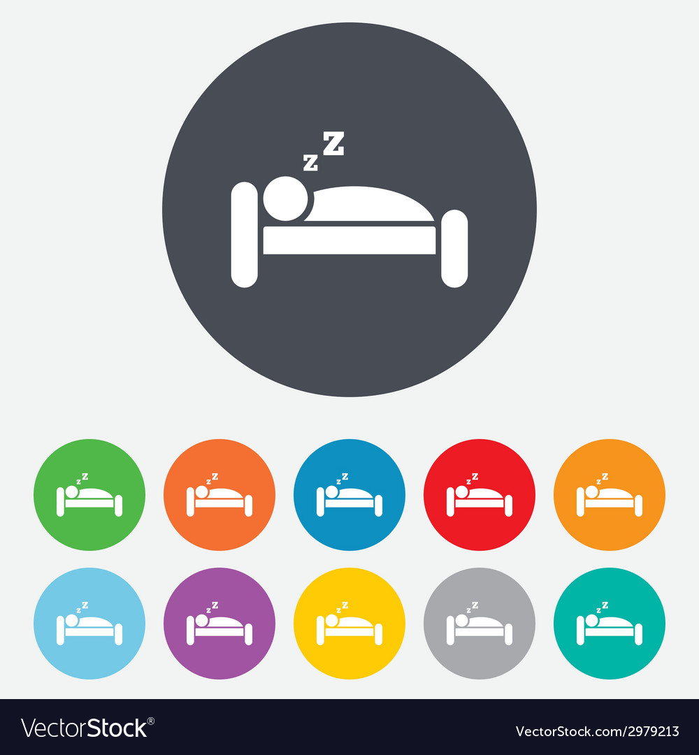 Hotel sign icon rest place sleeper symbol vector | Price: 1 Credit (USD $1)