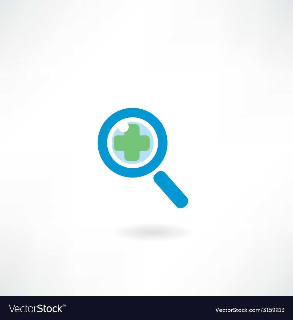 Magnifying glass icon vector | Price: 1 Credit (USD $1)