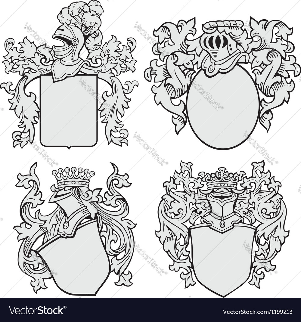 Set of aristocratic emblems no1 vector | Price: 1 Credit (USD $1)