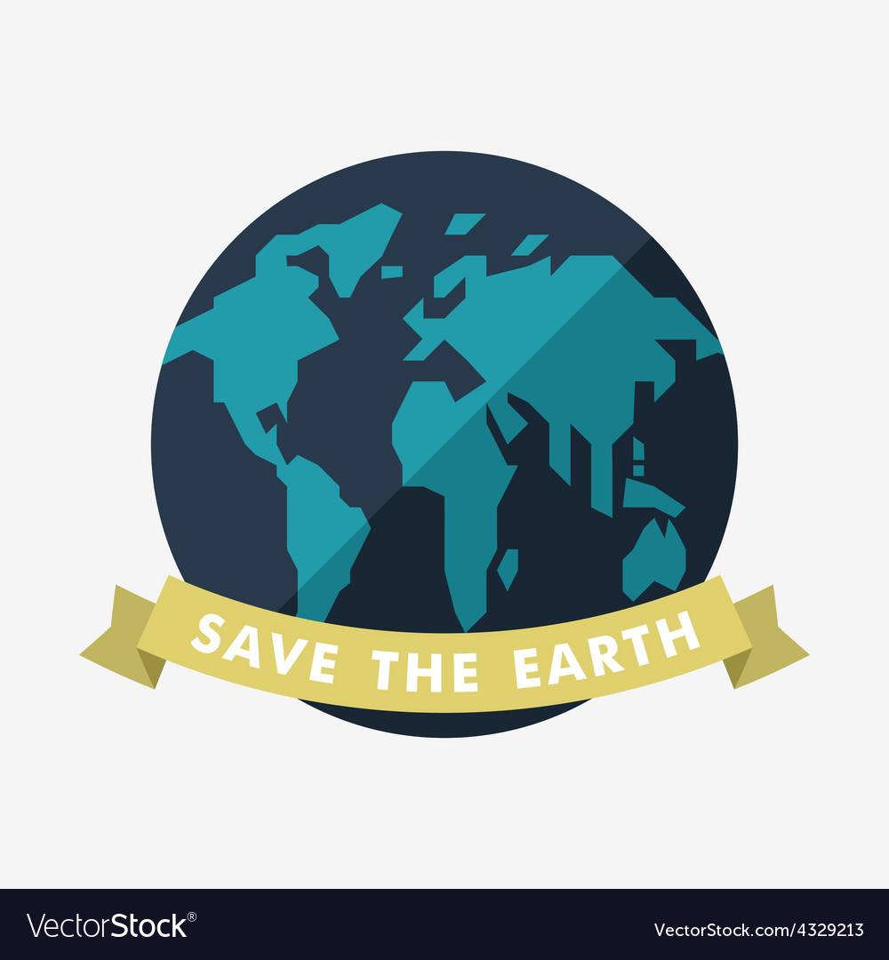 Vintage earth day celebrating card or poster vector | Price: 1 Credit (USD $1)