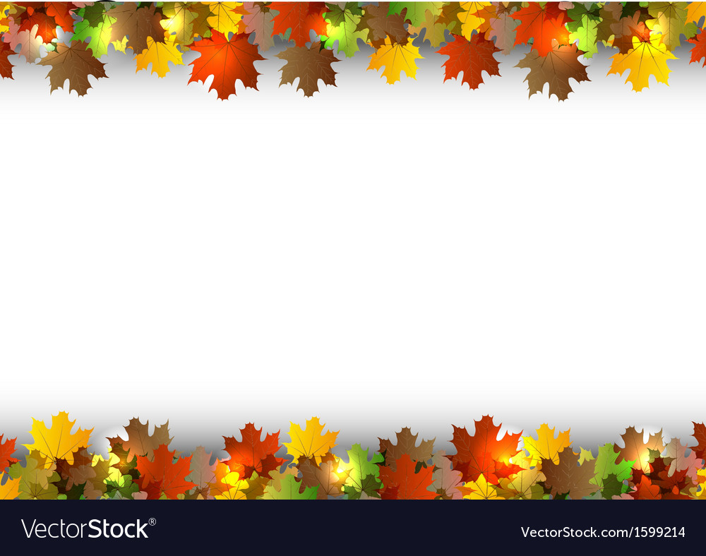 Background autumn white space vector | Price: 1 Credit (USD $1)