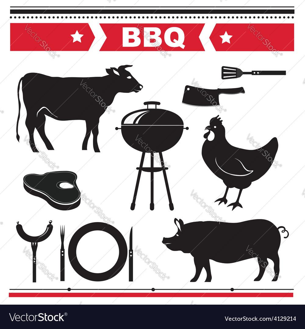 Barbecue design elements vector | Price: 1 Credit (USD $1)