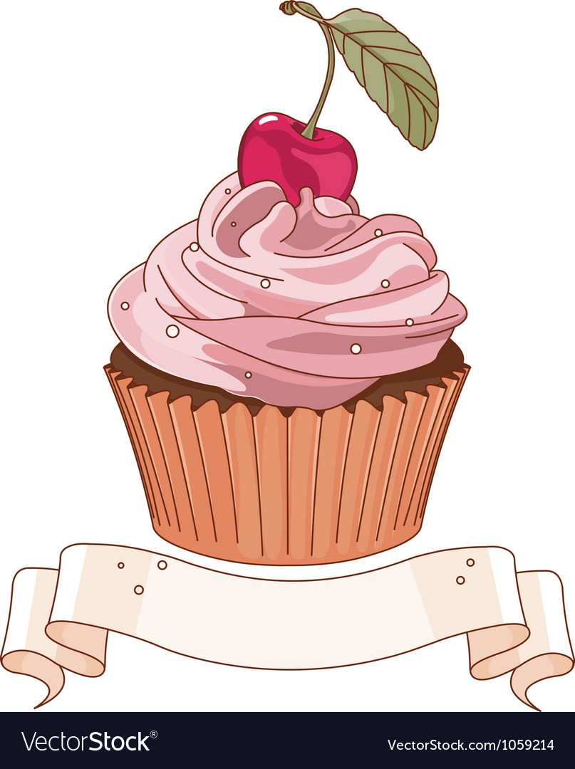 Beautiful cupcake vector | Price: 3 Credit (USD $3)