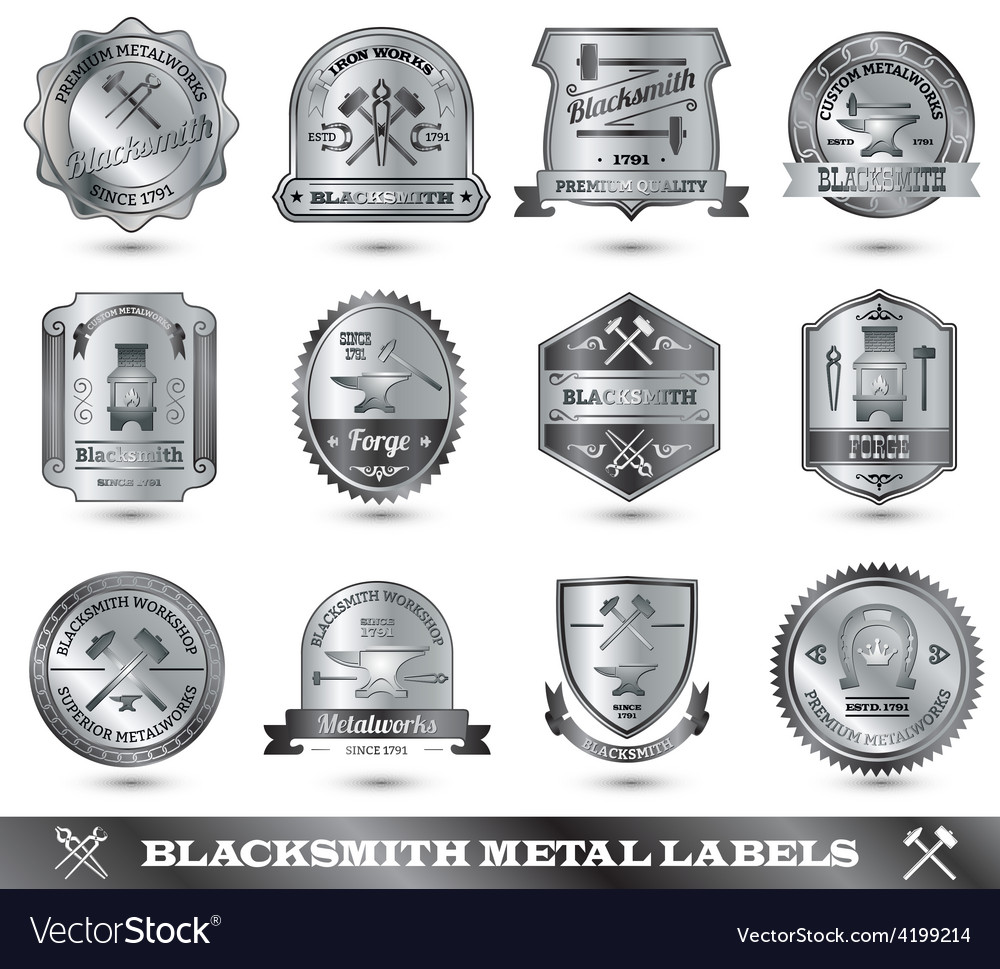Blacksmith metal label vector | Price: 1 Credit (USD $1)