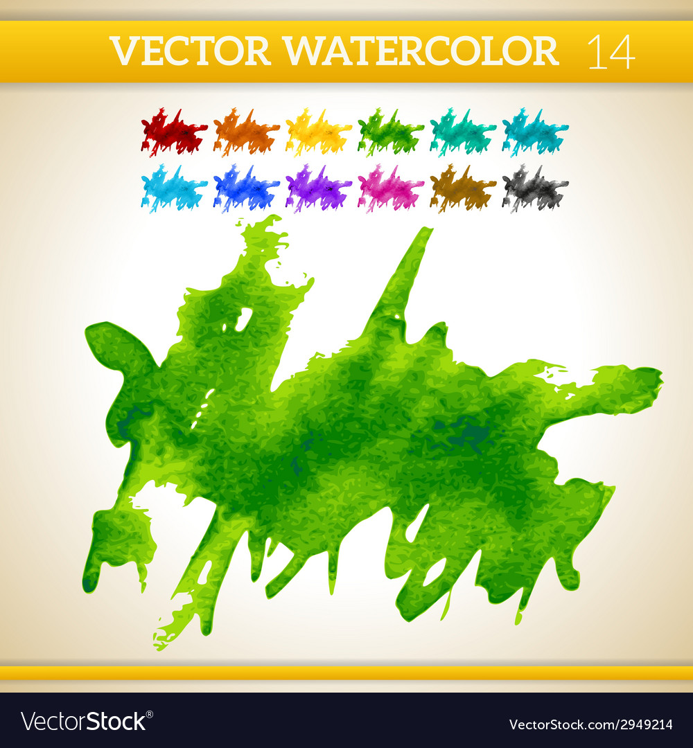 Fresh green watercolor artistic splash for design vector | Price: 1 Credit (USD $1)