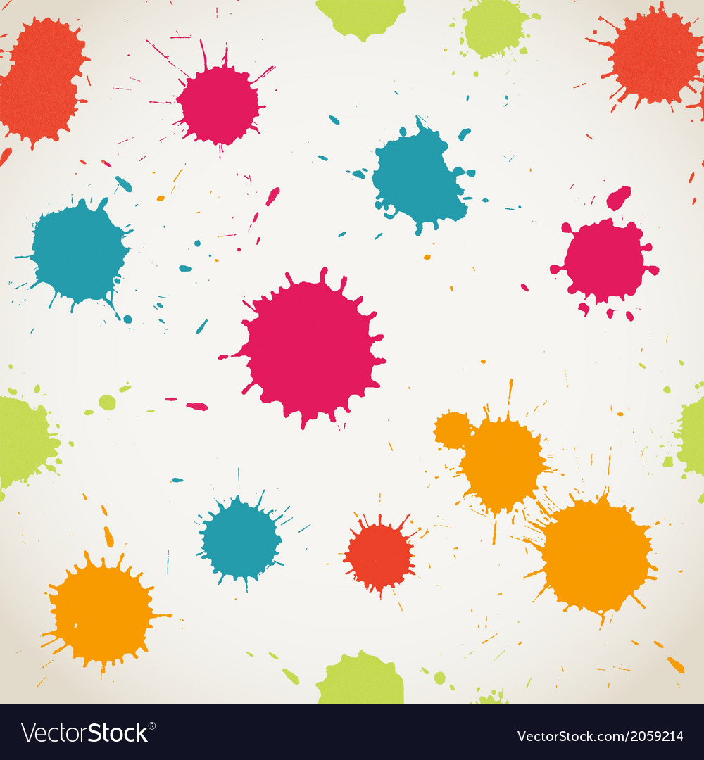 Spray paint watercolor seamless patterncopy square vector | Price: 1 Credit (USD $1)