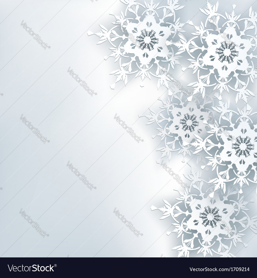 Stylish creative abstract background 3d snowflake vector | Price: 1 Credit (USD $1)