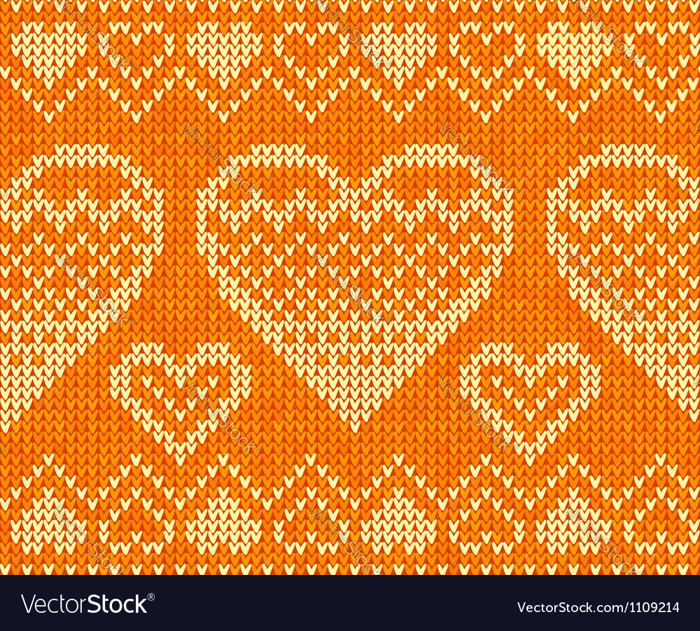 Valentines day knitted seamless pattern vector | Price: 1 Credit (USD $1)
