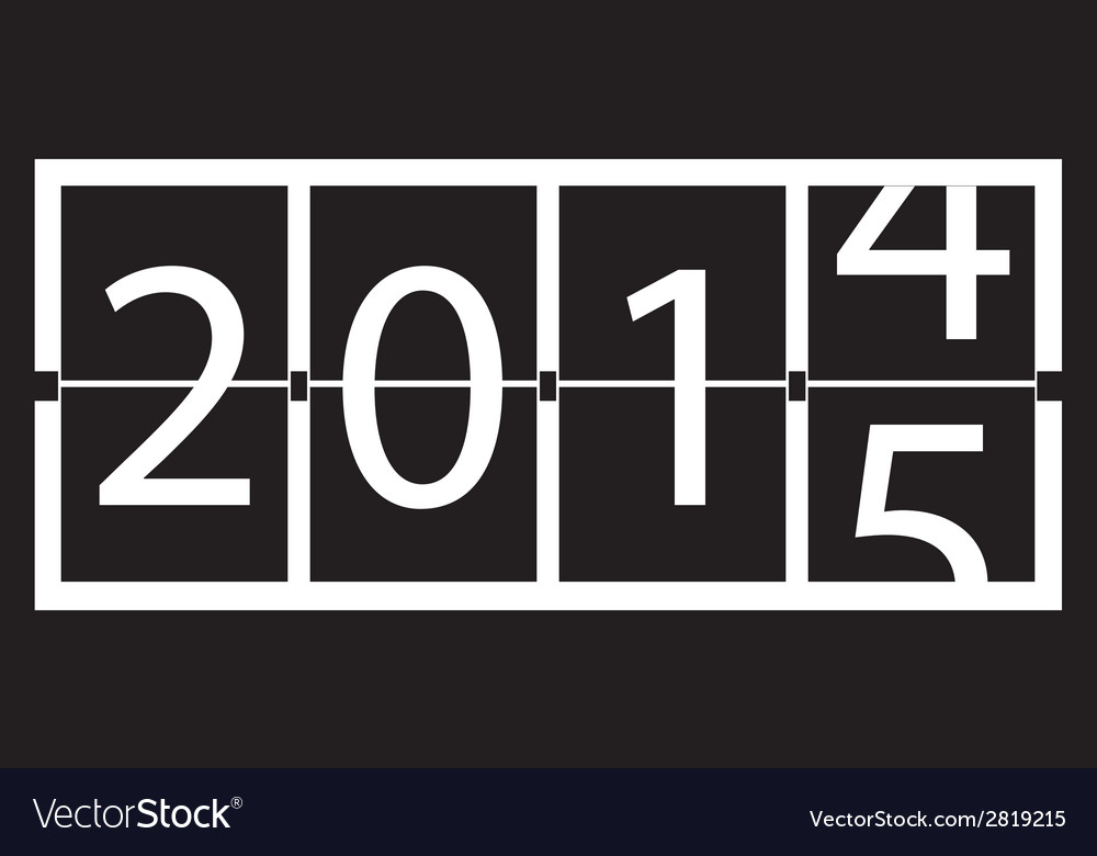 2015 new year vector | Price: 1 Credit (USD $1)