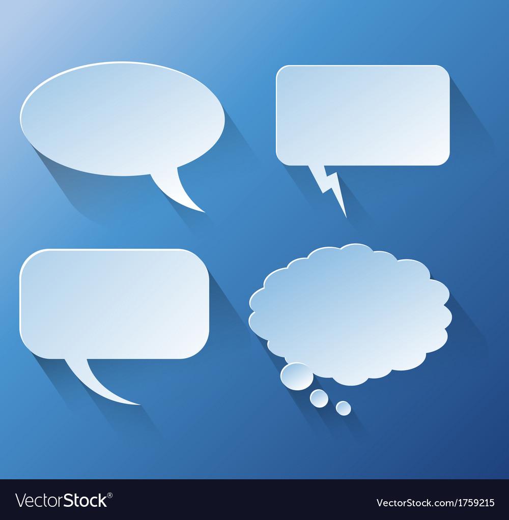 Abstract design speech bubble copyspace vector | Price: 1 Credit (USD $1)