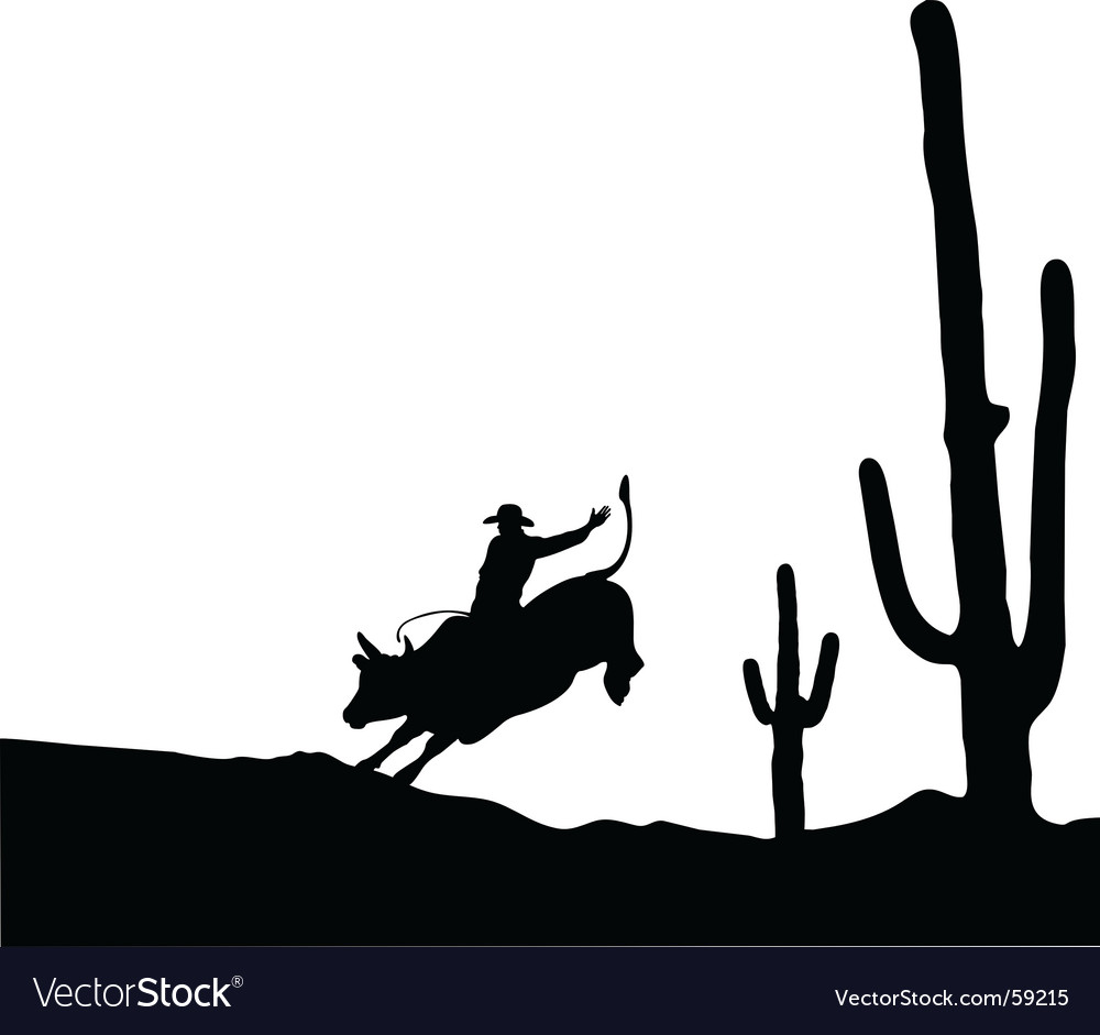 Bull rider vector | Price: 1 Credit (USD $1)