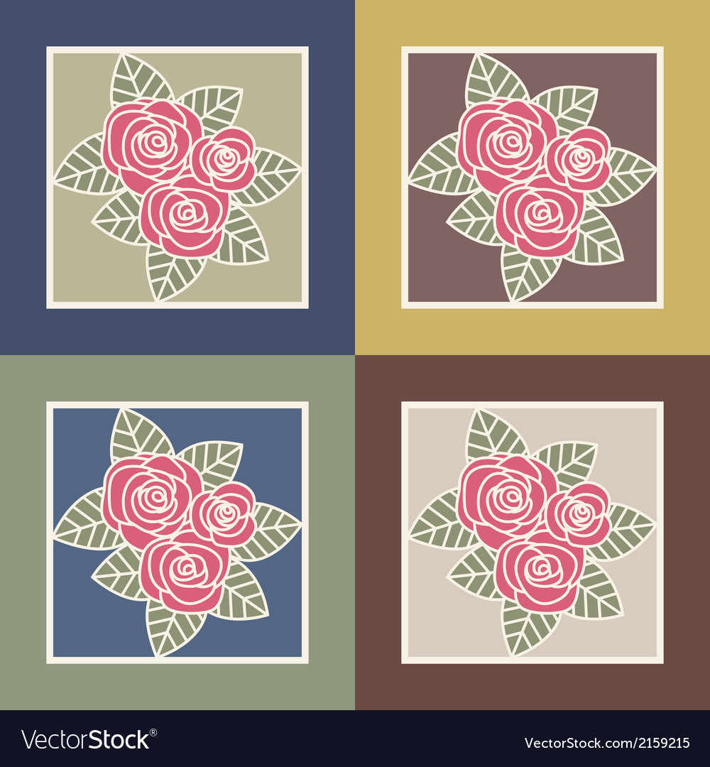 Bunch of roses vector | Price: 1 Credit (USD $1)