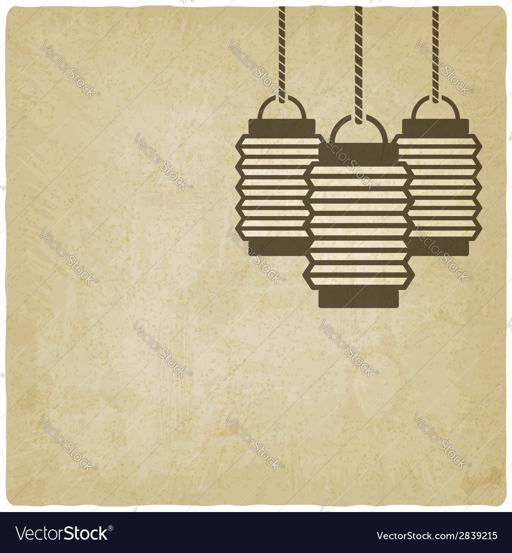 Chinese lantern old background vector | Price: 1 Credit (USD $1)