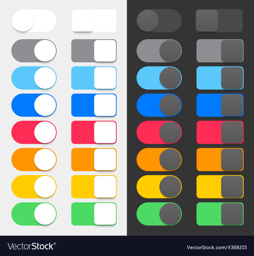 Colorful switchers vector | Price: 1 Credit (USD $1)