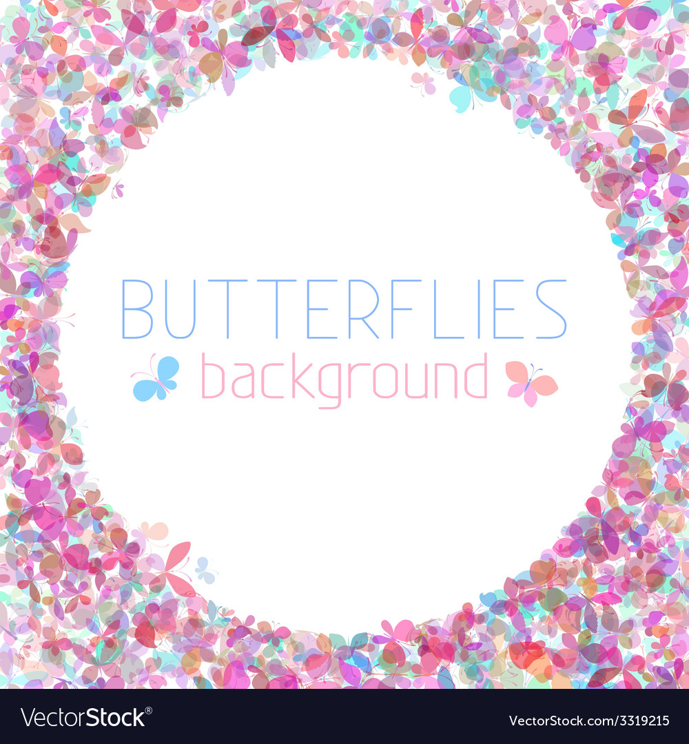 Colourful butterflies background vector | Price: 1 Credit (USD $1)
