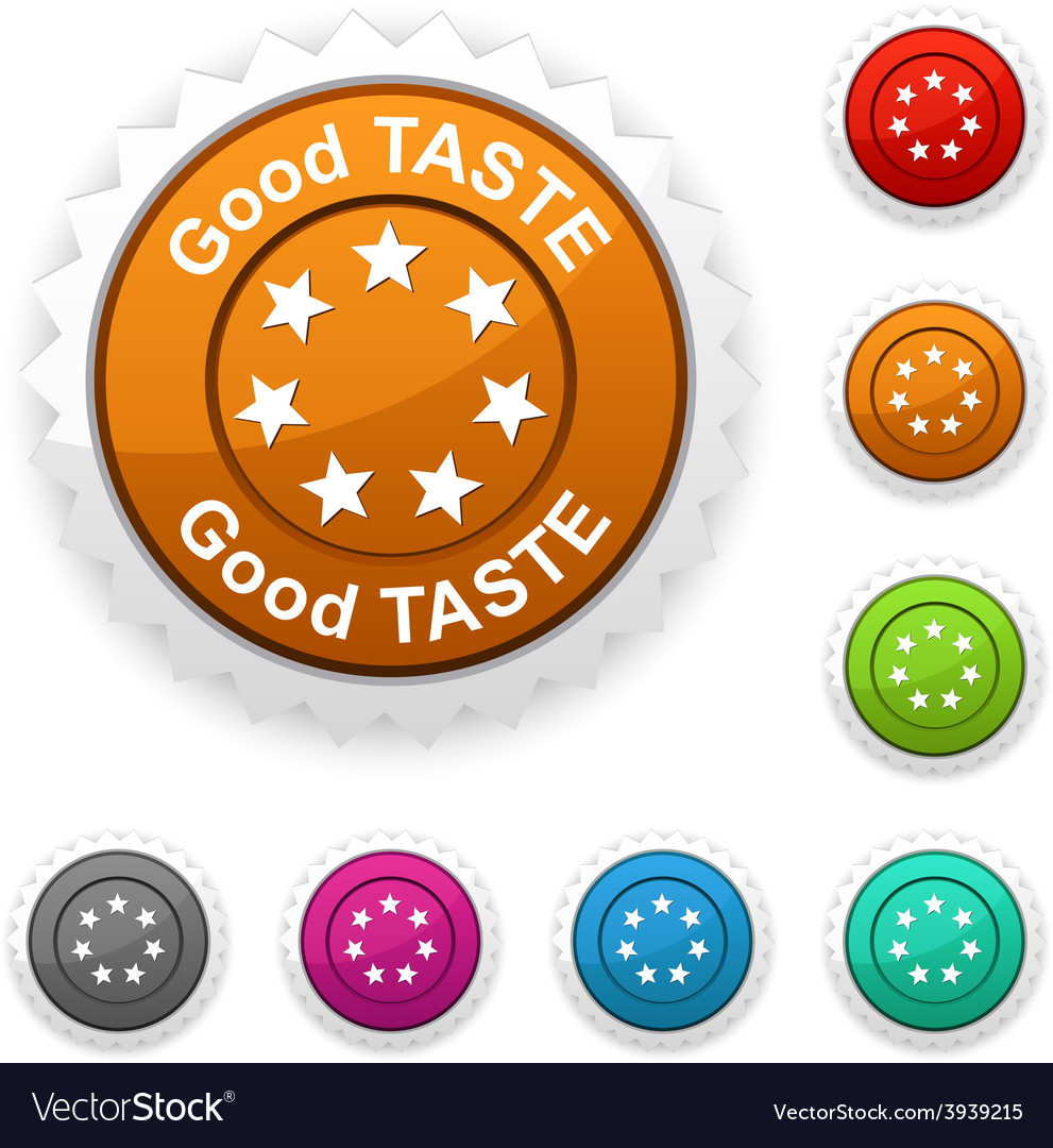 Good taste award vector | Price: 1 Credit (USD $1)