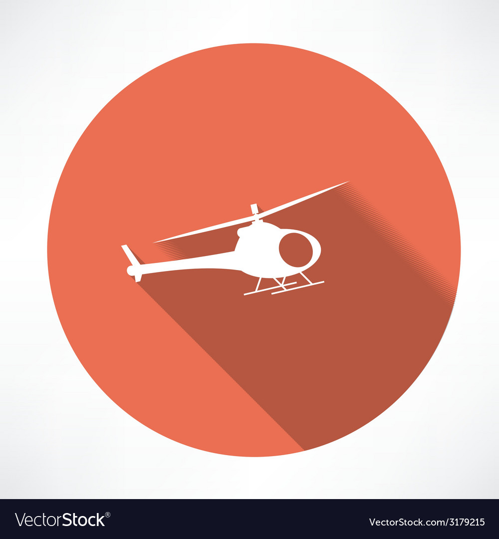 Helicopter icon vector | Price: 1 Credit (USD $1)