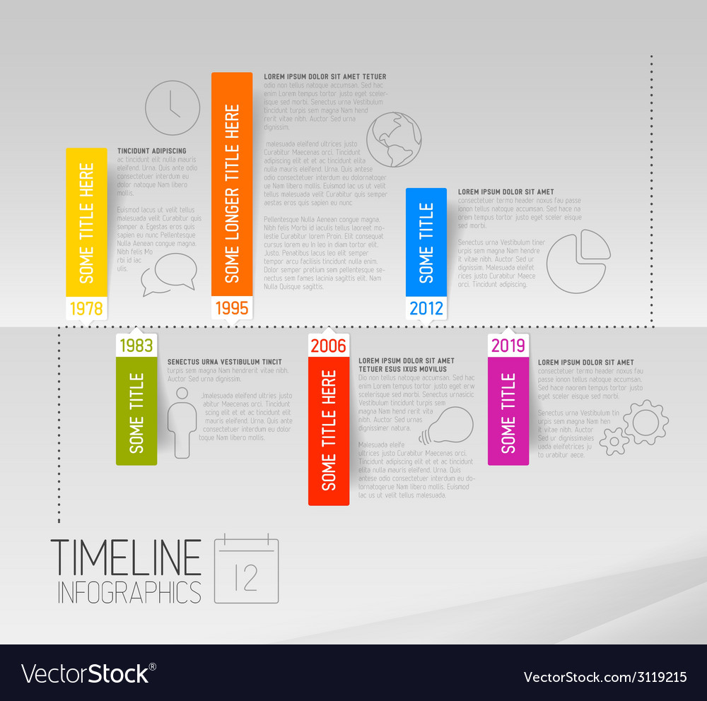 Horizontal infographic timeline report template vector | Price: 1 Credit (USD $1)