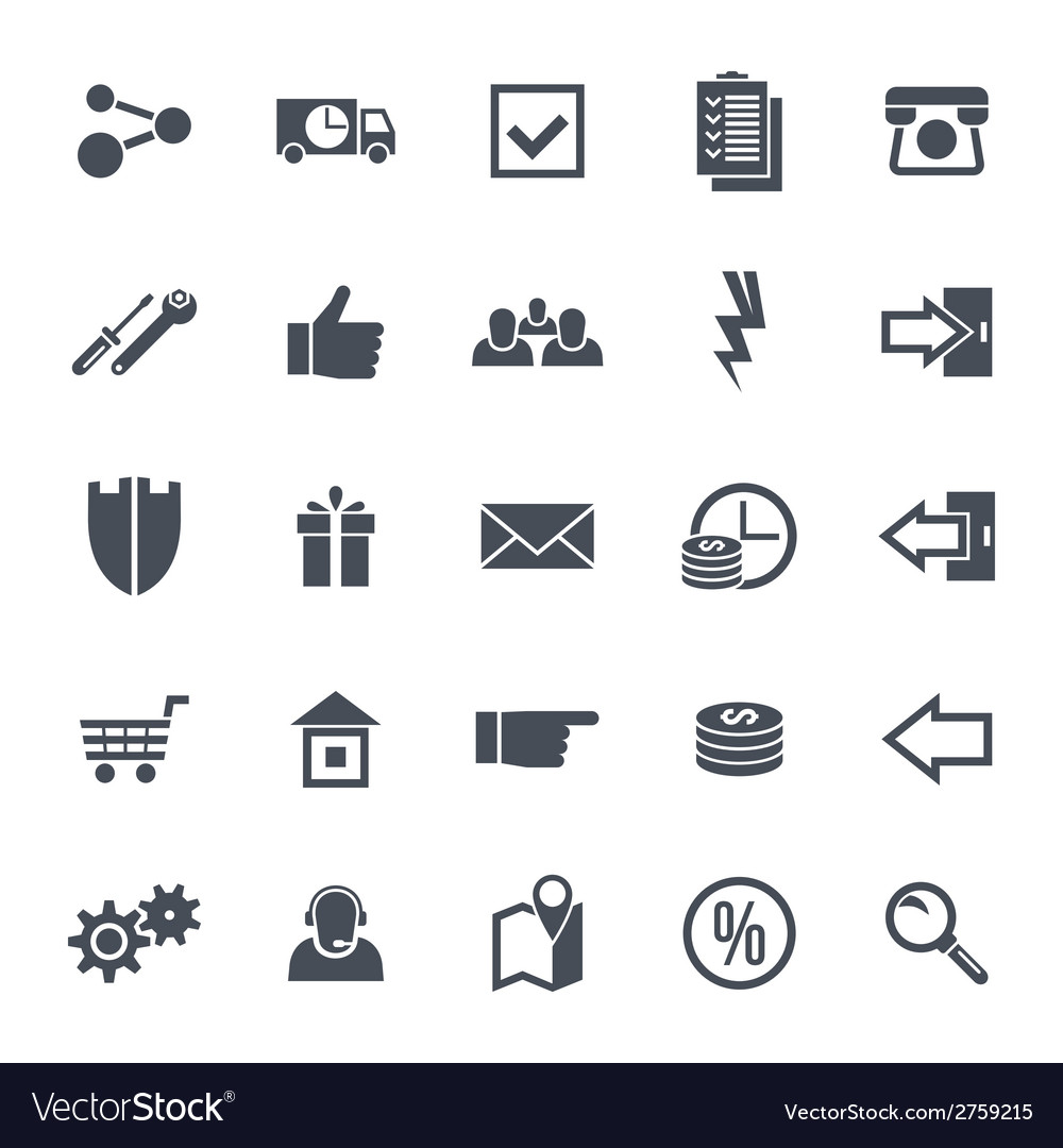 Icons navigation online store vector | Price: 1 Credit (USD $1)