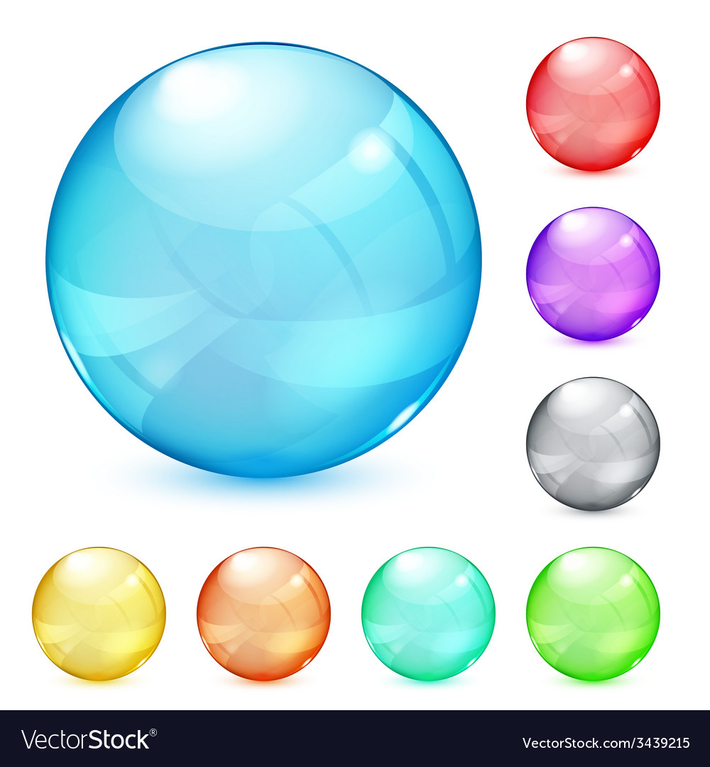 Opaque glass spheres vector | Price: 1 Credit (USD $1)