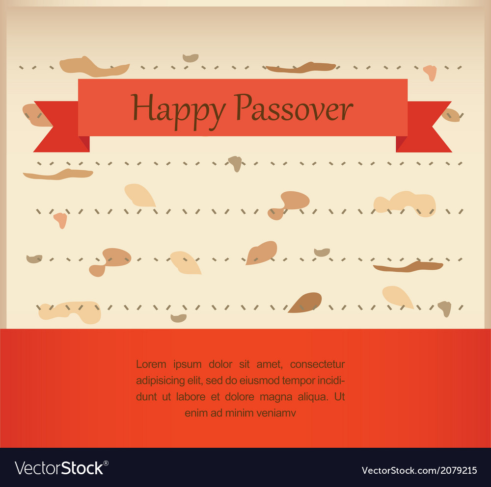 Passover invitation on matzoh background vector | Price: 1 Credit (USD $1)