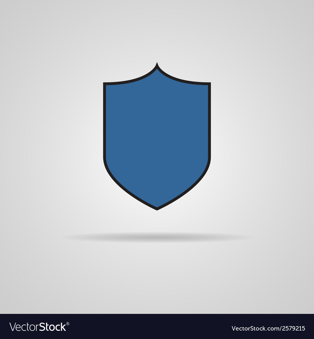 Protection icon with shadow vector | Price: 1 Credit (USD $1)