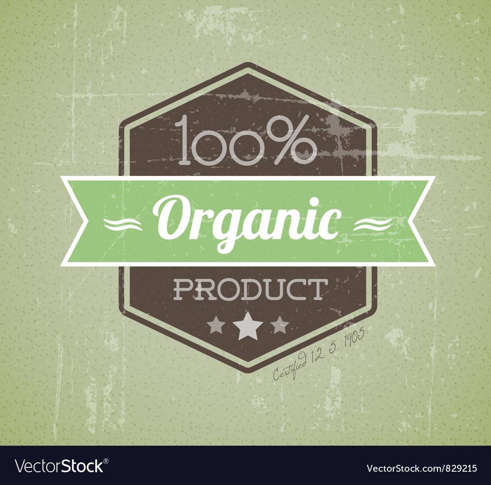 Quality retro label green organic vector | Price: 1 Credit (USD $1)