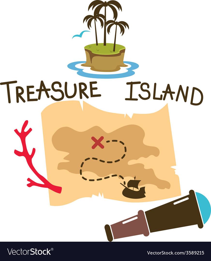 Treasure island composition vector | Price: 1 Credit (USD $1)