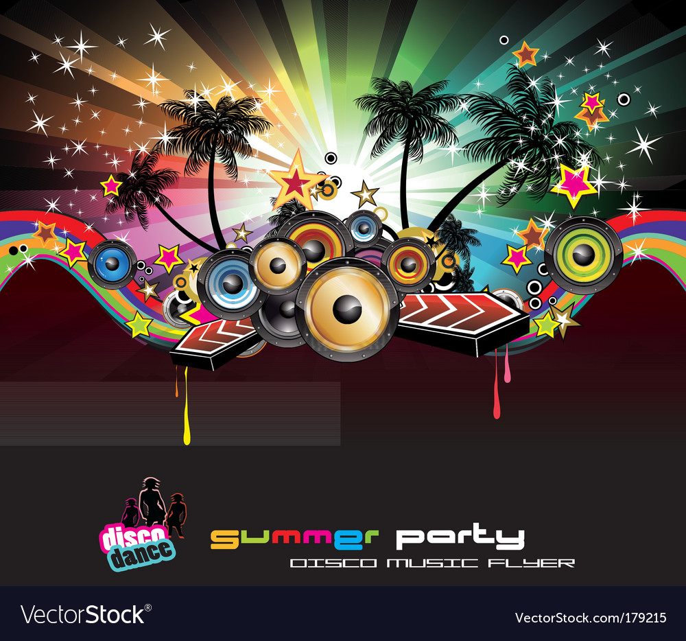 Tropical background for music flyers vector | Price: 3 Credit (USD $3)