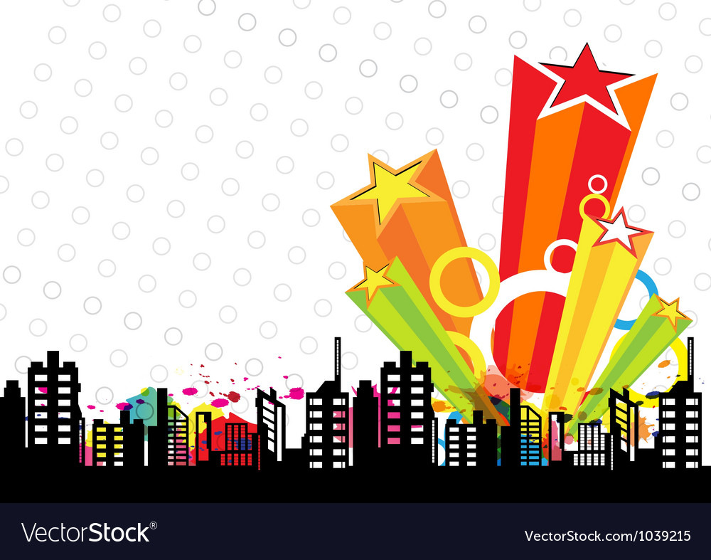 Urban design and star decoration vector | Price: 1 Credit (USD $1)