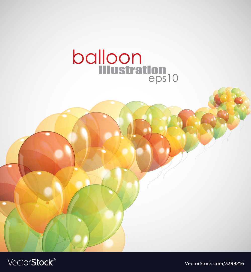 Abstract background with multicolored balloons vector | Price: 1 Credit (USD $1)