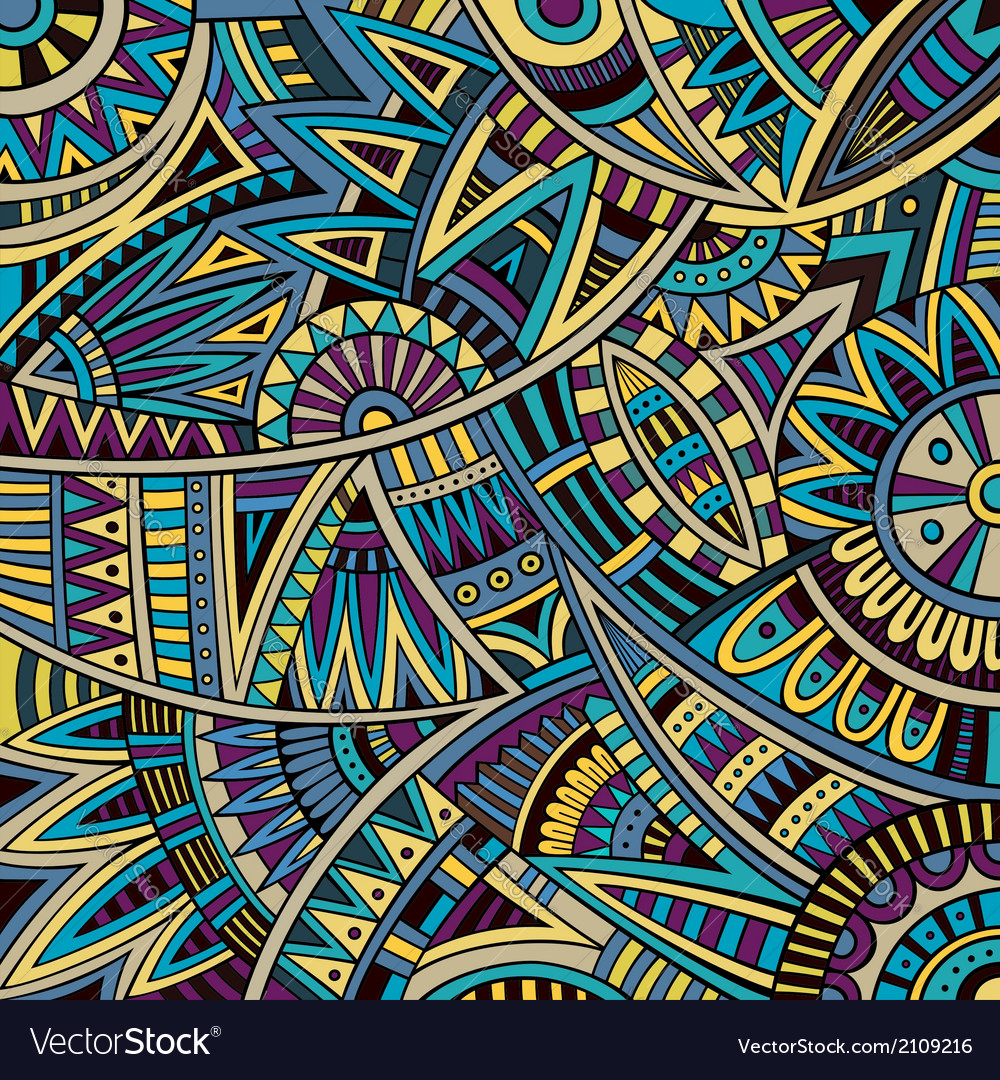 Abstract tribal ethnic background pattern vector | Price: 1 Credit (USD $1)