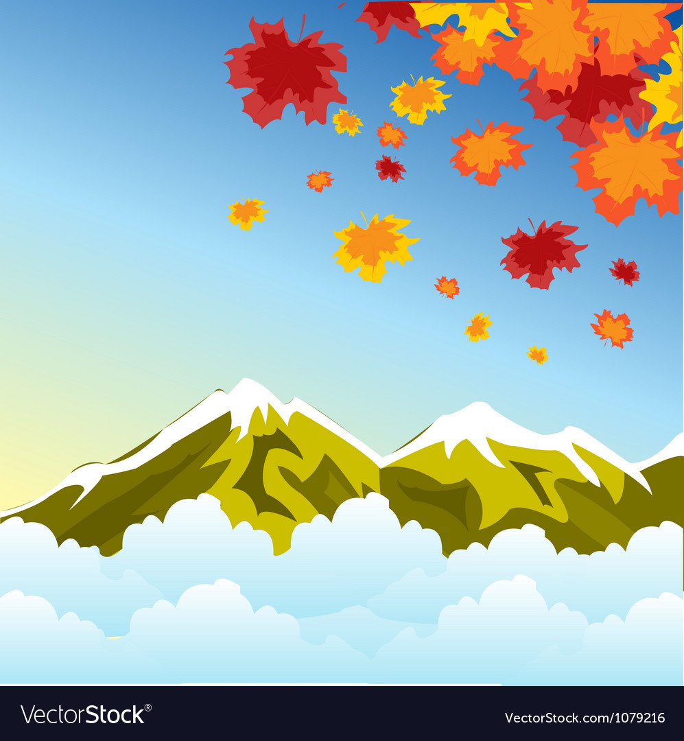 Autumn in mountain vector | Price: 1 Credit (USD $1)