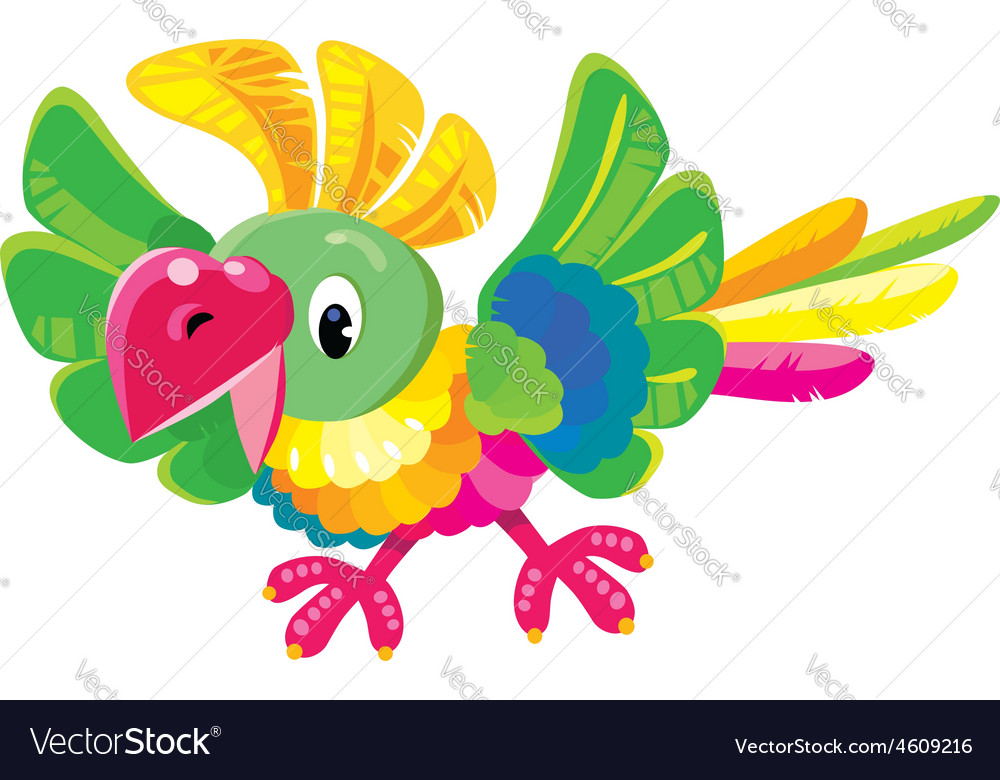 Children of funny parrot vector | Price: 1 Credit (USD $1)
