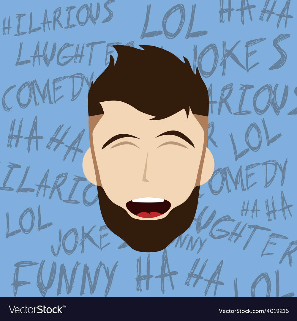 Funny laughing guy vector   Price: 1 Credit (USD $1)
