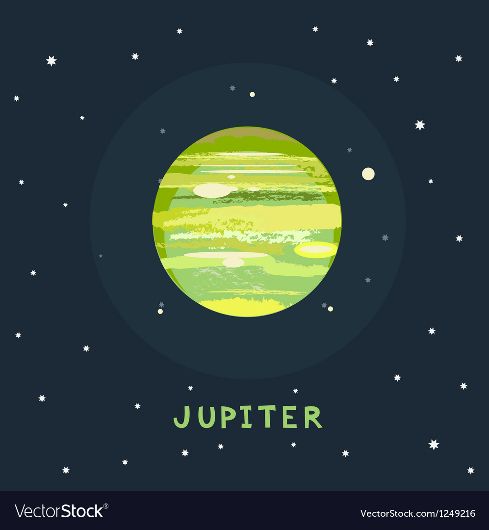 Jupiter space view vector | Price: 1 Credit (USD $1)