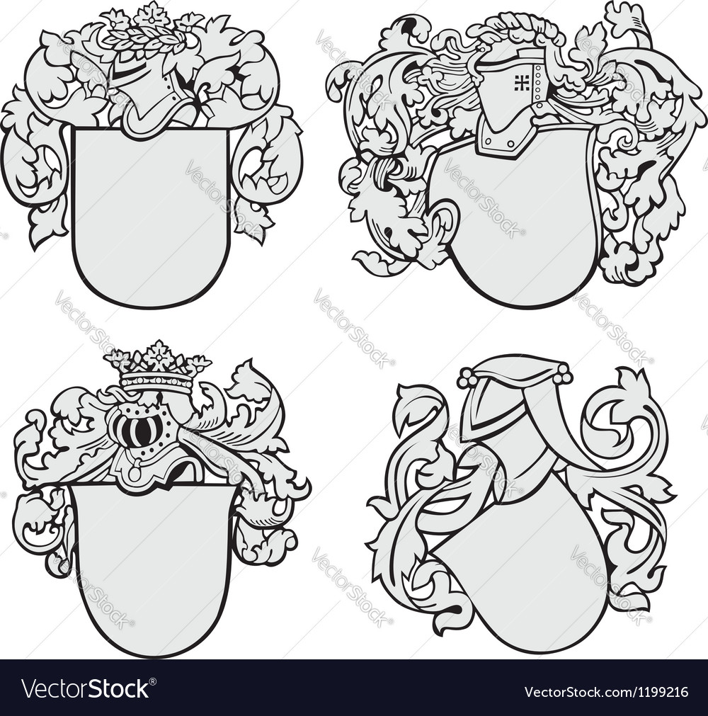 Set of aristocratic emblems no2 vector | Price: 1 Credit (USD $1)