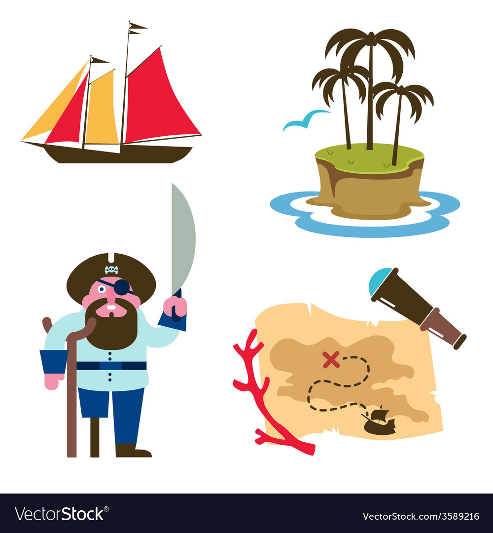 Treasure island vector | Price: 1 Credit (USD $1)