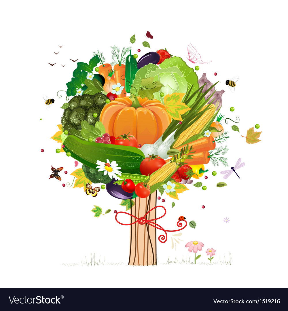 Vegetable tree vector | Price: 1 Credit (USD $1)