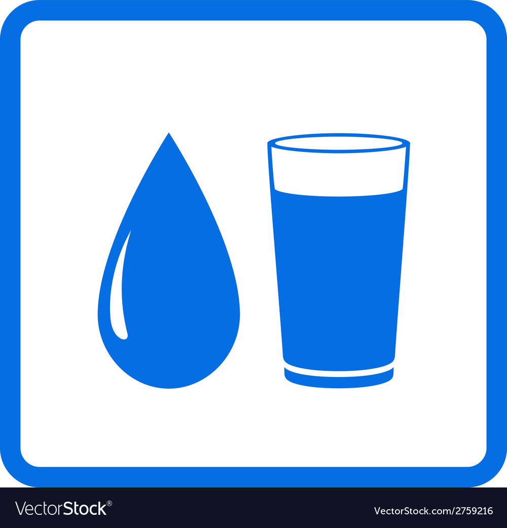 Water drop and glass vector | Price: 1 Credit (USD $1)