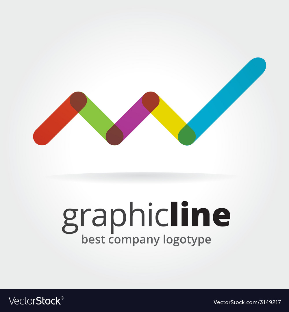 Abstract graph logotype isolated on white vector | Price: 1 Credit (USD $1)