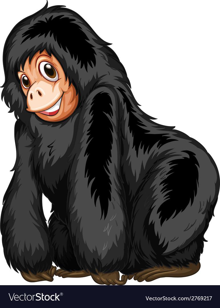 Black ape vector | Price: 1 Credit (USD $1)
