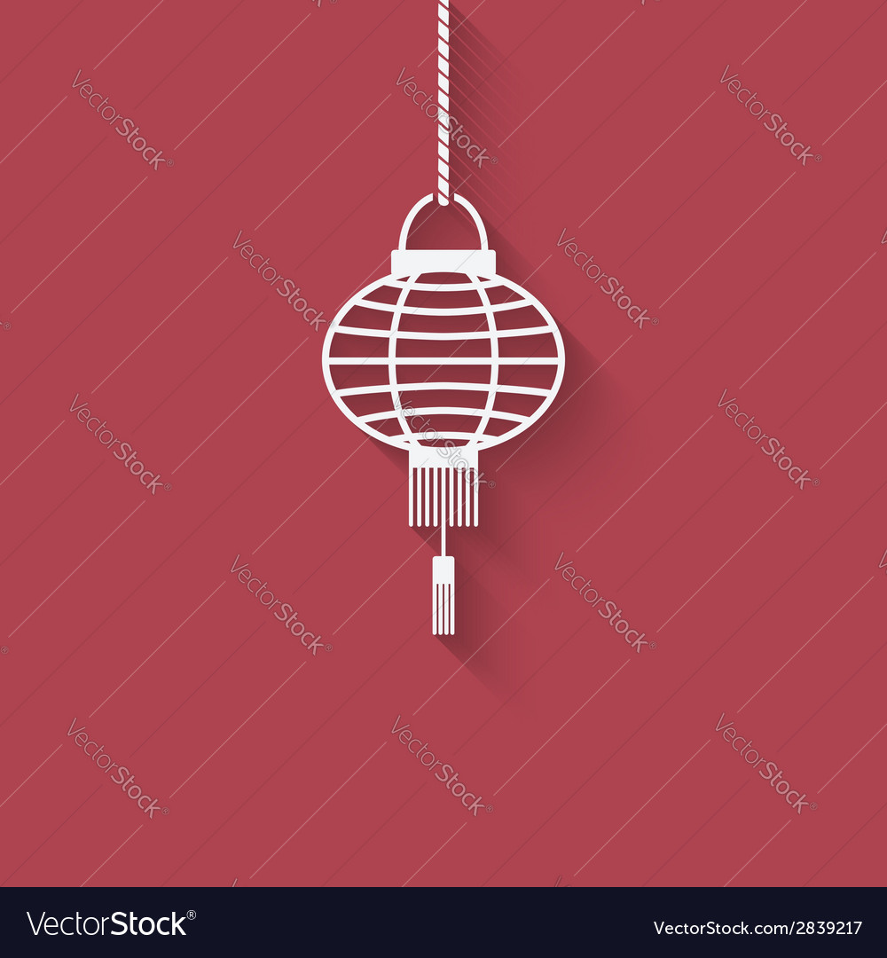 Chinese lantern design element vector | Price: 1 Credit (USD $1)