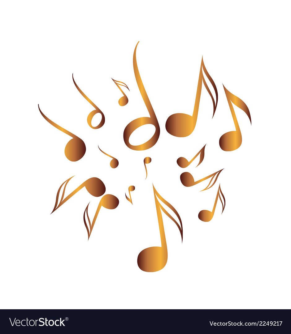 Classical music pack icon symbol golden vector | Price: 1 Credit (USD $1)