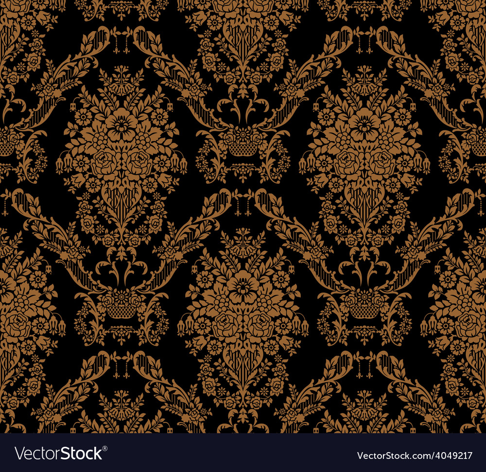 Damask seamless floral pattern royal wallpaper vector | Price: 1 Credit (USD $1)