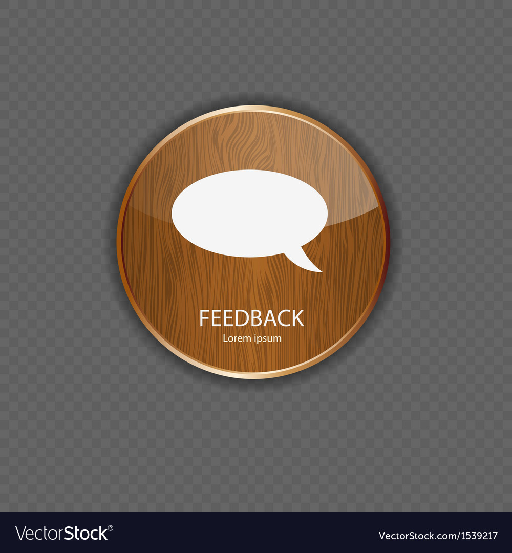 Feedback wood application icons vector | Price: 1 Credit (USD $1)