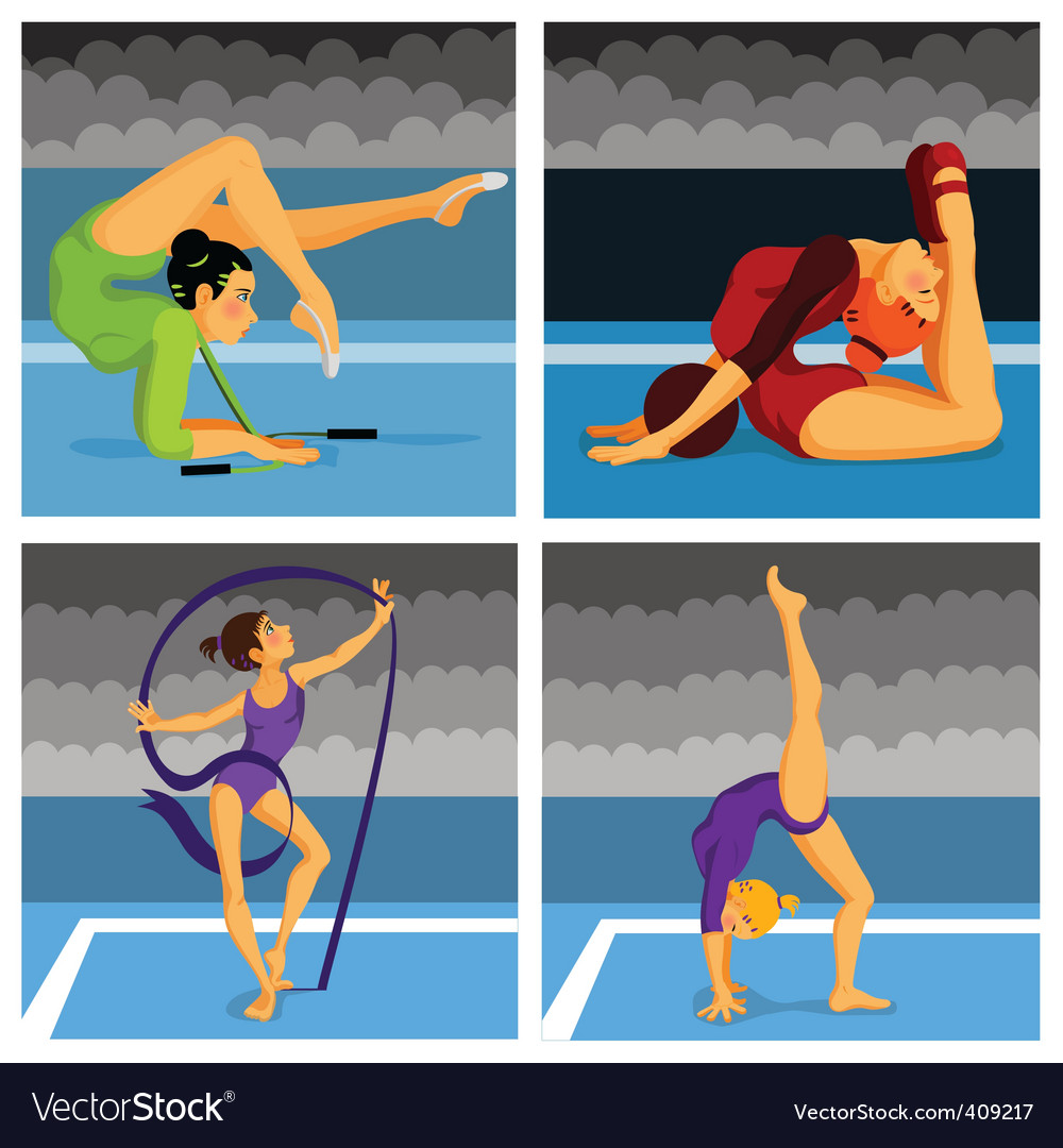 Gymnast girls vector | Price: 1 Credit (USD $1)