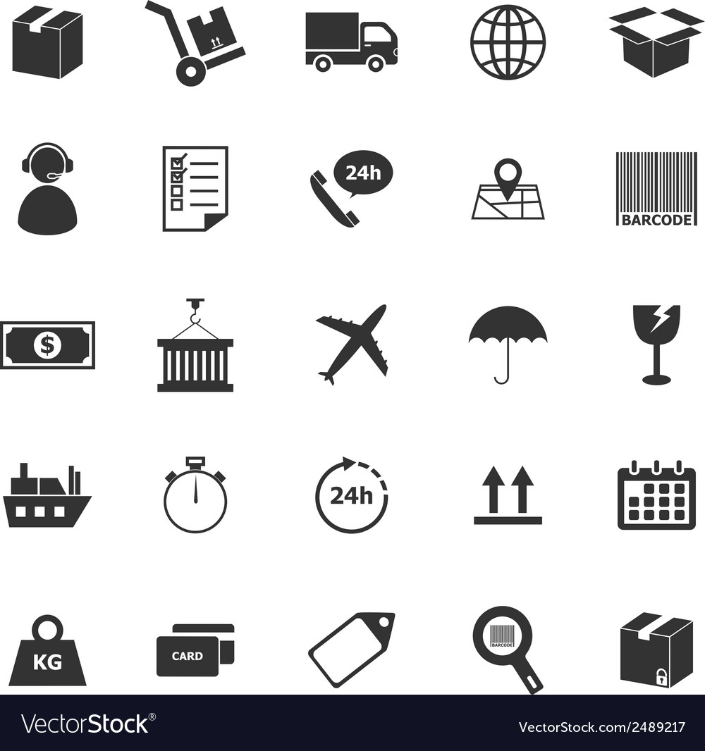 Logistics icons on white background vector | Price: 1 Credit (USD $1)
