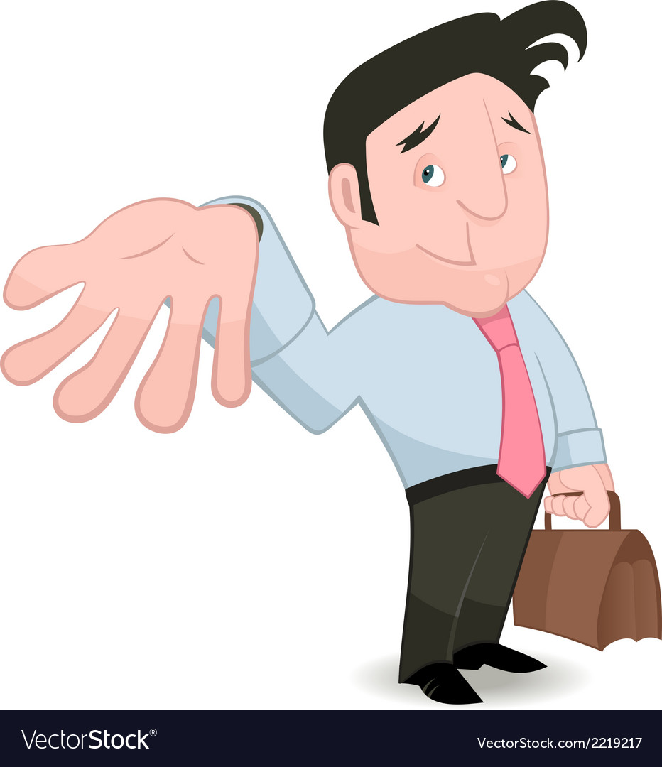 Man gesturing and placing trust vector | Price: 1 Credit (USD $1)